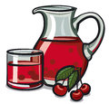 Cherry Drink Royalty Free Stock Photography - 58930787