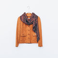 Glamorous Vintage. Ladies Jacket And Scarf. Combination Brown Sh Stock Photo - 58942020