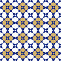 Blue, Gold And White Oriental Seamless Background Stock Photography - 58942112
