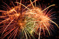 Fireworks Of Diverse Colors At Night Royalty Free Stock Photos - 58949878