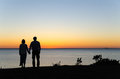 Watching Sunset Hand In Hand Royalty Free Stock Photos - 58951248