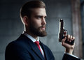 Danger Man With Gun Stock Photos - 58953623
