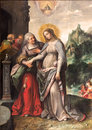 Antwerp - The Visitation Of Virgin Mary To Elizabeth By Frans Francken (1581 - 1642) In Saint Pauls Church Royalty Free Stock Photo - 58954315