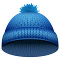 Knitted Woolen Cap. Winter Seasonal Red Hat Stock Images - 58969994