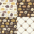 Set Of Beer Seamless Patterns Royalty Free Stock Photo - 58973935