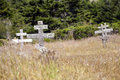 Old Crosses At The Historic Orthodox Cemetery Of Fort Ross Royalty Free Stock Image - 58981966