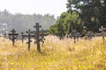 Old Crosses At The Historic Orthodox Cemetery Of Fort Ross Stock Images - 58982094