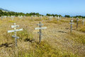 Old Crosses At The Historic Orthodox Cemetery Of Fort Ross Royalty Free Stock Photos - 58992678