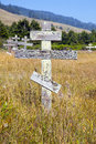 Old Crosses At The Historic Orthodox Cemetery Of Fort Ross Royalty Free Stock Photos - 58993398