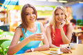 Girls In Cafe Stock Image - 59012511