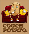 Potato Sitting On Couch Stock Photo - 59012730