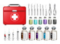 Medical Equiments And Firstaid Box Stock Photography - 59012952