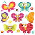 Cute And Colorful Butterflies Stock Photography - 59032062