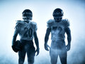American Football Players Silhouette Royalty Free Stock Photo - 59033115