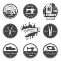 Set Of Vintage Workshop Emblems Royalty Free Stock Photography - 59046347