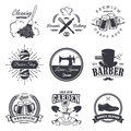 Set Of Vintage Workshop Emblems Stock Image - 59047751