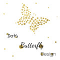 Golden Dots Butterfly Design Template Royalty Free Stock Images - 59054289