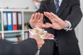Businessman Hands Rejecting An Offer Of Money Stock Images - 59070524