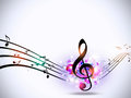 Music Notes Bright Funky Background Royalty Free Stock Photography - 59073157