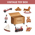 Vintage Toy Box Set Royalty Free Stock Photography - 59075917