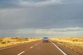 Car On A Long Road To The Sky Horizon Royalty Free Stock Photography - 59077897