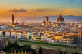 Sunset View Of Florence And Duomo Stock Photos - 59079433