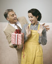A Surprise Gift For Her Stock Image - 59081241