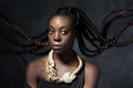 Black Woman With The Flying Long Hair Royalty Free Stock Image - 59090986