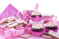 Pink Ribbon Charity For Womens Health Awareness Morning Tea. Stock Image - 59098321