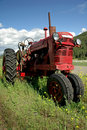Old Red Farm Tractor Stock Image - 5910631