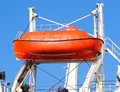 Red Lifeboat On Crane Lift Royalty Free Stock Image - 5914816