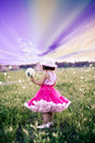 Child In A Flower Field Royalty Free Stock Image - 5917206