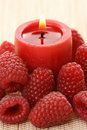Raspberry Candle Stock Photography - 5918112