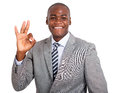 Businessman Showing Ok Sign Royalty Free Stock Photography - 59100977