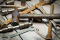 Rusty Old Tools Stock Photo - 59105900