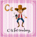 Flashcard Letter C Is For Cowboy Stock Photos - 59122933