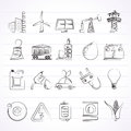 Power, Energy And Electricity Source Icons Royalty Free Stock Photo - 59140895