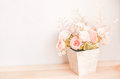 Pastel Coloured Artificial Pink Rose Wedding Bridal Bouquet In F Stock Images - 59144354
