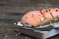 Raw Salmon Fish Fillet With Fresh Herbs Royalty Free Stock Images - 59157089