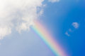 Rainbow In The Blue Sky Royalty Free Stock Image - 59168436