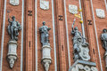 Sculptures On The Facade Of The House Of Blackheads In Riga, Lat Royalty Free Stock Photos - 59176638