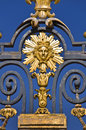 The Sun King, Detail Of The Metal Gate Of The Chateau De Versailles, Paris Stock Photography - 59176942