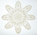 Crocheted Lace On White Royalty Free Stock Photography - 59184457