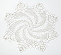 Crocheted Lace On White Stock Photos - 59184503