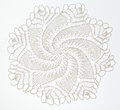 Crocheted Lace On White Royalty Free Stock Image - 59184506