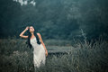 Beautiful But Sad Woman In Fairytale, Wood Nymph Royalty Free Stock Images - 59184539