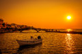 Sunset Over Town Of Lefkas In Lefkada Island, Greece. Stock Photo - 59185310