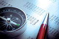 Budget, Compass And Pen Stock Image - 59185411