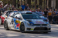 WRC World Rally Championship Car In Salou , Spain Stock Images - 59187524