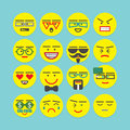 Cute Colorful Design Element Character Faces Icons Set Royalty Free Stock Image - 59191616